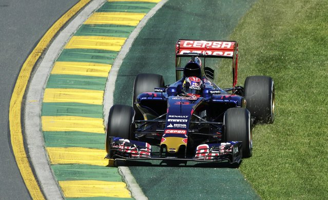 Toro Rosso Formula One driver Max Verstappen of the Netherlands drives during the first practice session of the Australian F1 Grand Prix at the Albert Park circuit in Melbourne March 13, 2015.   REUTERS/Mark Dadswell