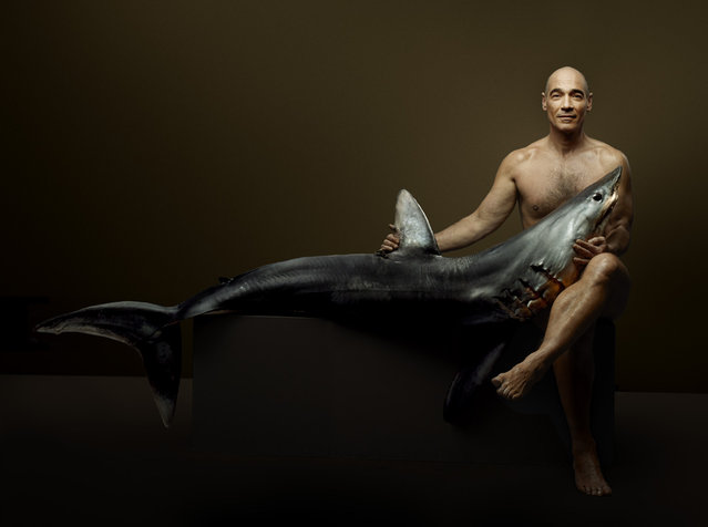 """""""Fish Love"""" Project by Photographer Denis Rouvre. Jean-Marc Barr. (Photo by Denis Rouvre)"""