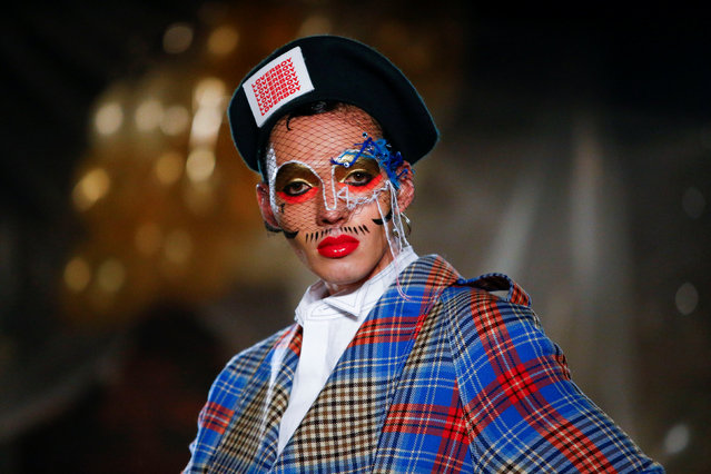 A model presents a creation during the  Charles Jeffrey LOVERBOY catwalk show at London Fashion Week Men's in London, Britain January 5, 2019. (Photo by Henry Nicholls/Reuters)