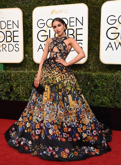Olivia Culpo arrives at the 74th annual Golden Globe Awards, January 8, 2017, at the Beverly Hilton Hotel in Beverly Hills, California. (Photo by Valerie Macon/AFP Photo)