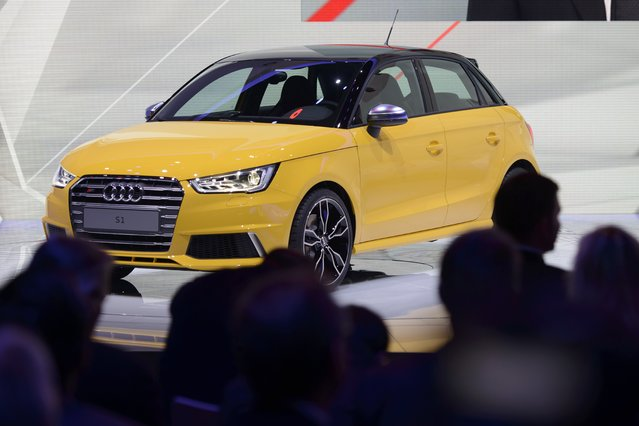 The new Audi S1  is on display  at the 84.  Geneva International Motor Show in Geneva, Switzerland, Tuesday, March 4, 2014. (Photo by Martial Trezzini/AP Photo/Keystone)