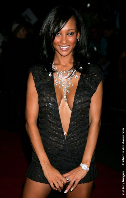 Singer Lisa Maffia arrives at the MOBO Awards 2005, the tenth anniversary of the annual music event