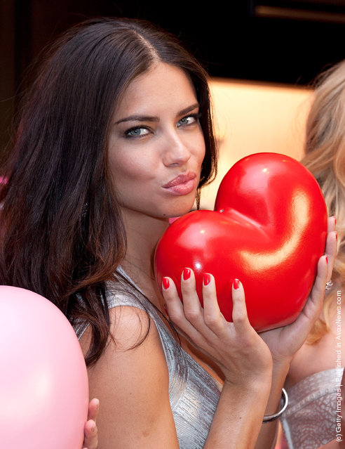 Adriana Lima attend the Victoria's Secret Angels Valentine's Day Event