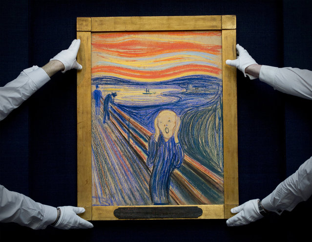 Edvard Munch's 'The Scream' is auctioned at Sotheby's May 2012 Sales of Impressionist, Modern and Contemporary Art on May 2, in New York City
