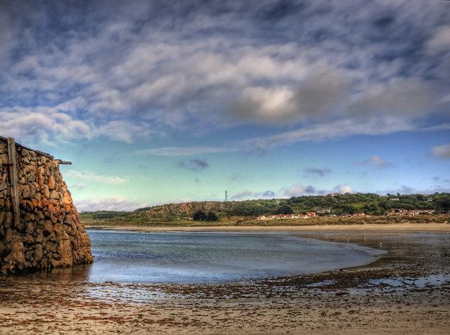 Braye bay at low tide - Alderney