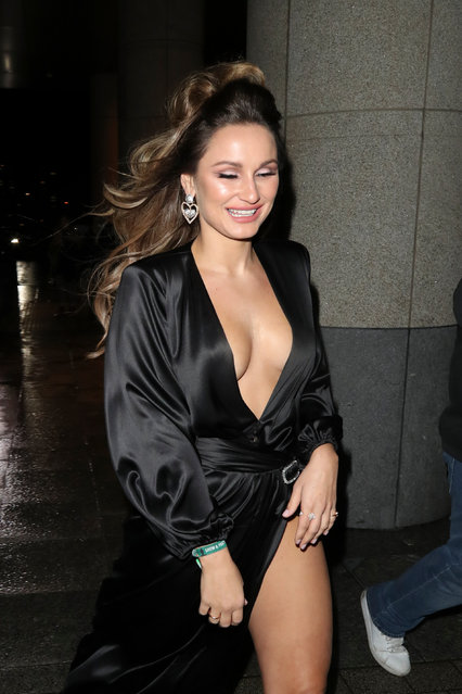 Sam Faiers seen attending The Box BRIT Awards 2020 afterparty on February 18, 2020 in London, England. (Photo by Splash News and Pictures)