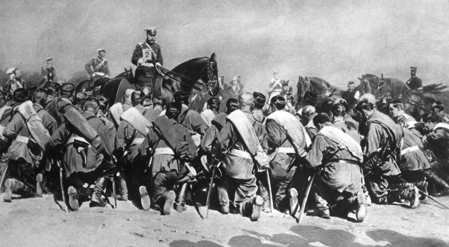 Emperor of Russia Nicholas II (1868–1918) with the sacred ikon, September 1917.
