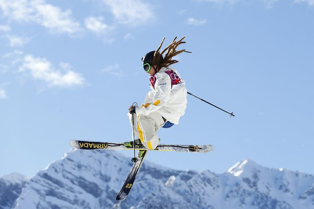 Sweden's Henrik Harlaut performs a jump during the men's freestyle skiing slopestyle finals at the 2014 Sochi Winter Olympic Games in Rosa Khutor in this February 13, 2014 file photo. (Photo by Lucas Jackson/Reuters)