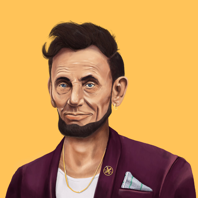 Hipstory: Post modern Abraham Lincoln. (Photo by Amti Shimoni/Caters News)