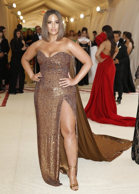 Ashley Graham attends The Metropolitan Museum of Art's Costume Institute benefit gala celebrating the opening of the Heavenly Bodies: Fashion and the Catholic Imagination exhibition on Monday, May 7, 2018, in New York. (Photo by Carlo Allegri/Reuters)