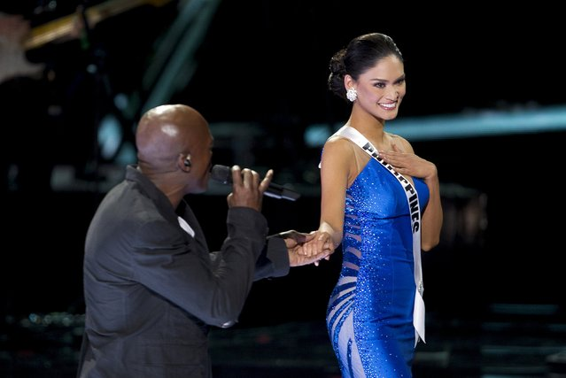 Singer Seal performs with Miss Philippines Pia Alonzo Wurtzbach during the 2015 Miss Universe Pageant in Las Vegas, Nevada December 20, 2015. (Photo by Steve Marcus/Reuters)