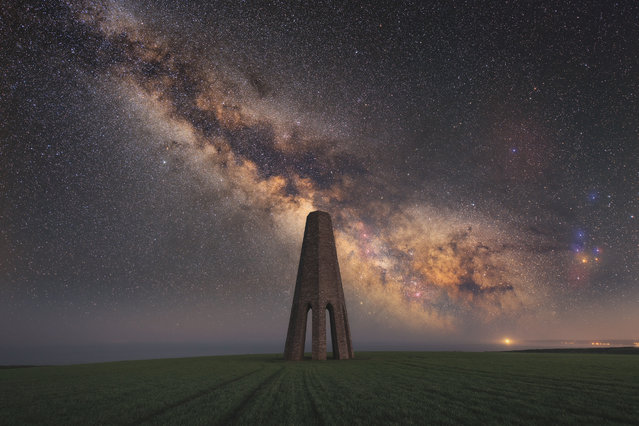 Undated handout photo issued by Take a View of the winner of the Adobe Prize of the Landscape Photographer of the Year Awards, The Daymark, Brixham, Devon, England by Will Milner (lives Oxfordshire). Issue date: Monday October 15, 2018. (Photo by Will Milner/PA Wire)