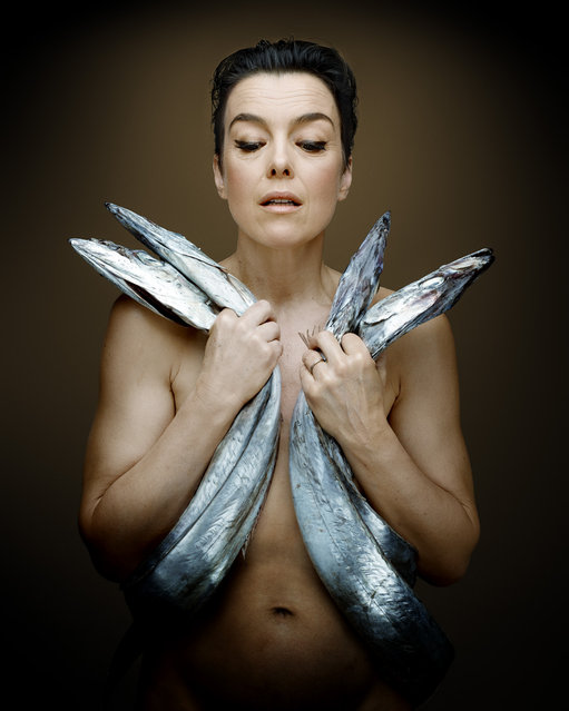 """""""Fish Love"""" Project by Photographer Denis Rouvre. Olivia Williams. (Photo by Denis Rouvre)"""