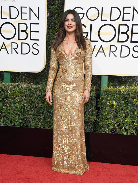 Actress Priyanka Chopra attends the 74th Annual Golden Globe Awards at The Beverly Hilton Hotel on January 8, 2017 in Beverly Hills, California. (Photo by Frazer Harrison/Getty Images)
