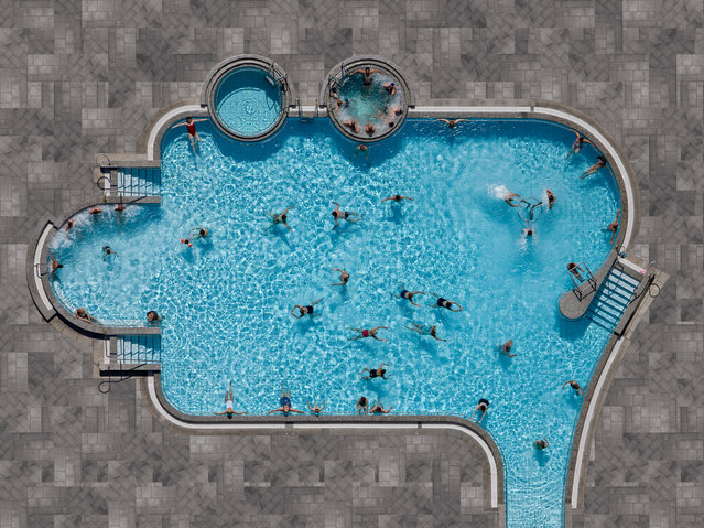Stephan Zirwes, Germany. Professional; Architecture. Zirwes' Pools series is a study of water, particularly highlighting the contrast between the incredible waste of drinking water for private swimming pools. (Photo by Stephan Zirwes/Sony World Photography Awards)