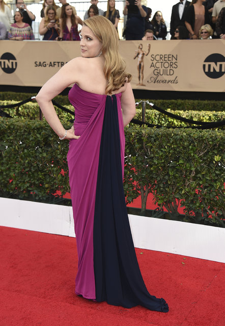 Anna Chlumsky arrives at the 23rd annual Screen Actors Guild Awards at the Shrine Auditorium & Expo Hall on Sunday, January 29, 2017, in Los Angeles. (Photo by Jordan Strauss/Invision/AP Photo)