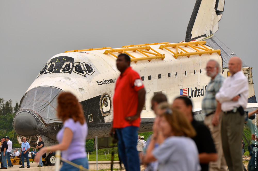Discovery And Endeavour Space Shuttles Move Locations At Kennedy Space Center