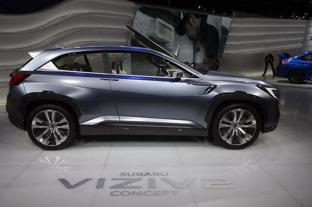 The new Concept Car Subaru VIZIV2 is  is displayed  at the 84.  Geneva International Motor Show in Geneva, Switzerland, Tuesday, March 4, 2014. (Photo by Martial Trezzini/AP Photo/Keystone)