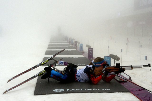 Russia's Svetlana Konovalova competes during Women's Biathlon 10 km Sitting at XI Paralympic Olympic games as part of the in Rosa Khutor on March 11, 2014. (Photo by Kirill Kudryavtsev/AFP Photo)