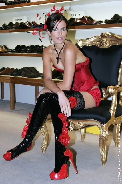 Sophie Anderton models the new Kinky Boots Collection