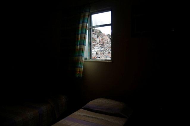 A room at Pousada Favela Cantagalo hostel is seen in Cantagalo favela in Rio de Janeiro, Brazil, May 1, 2016. (Photo by Pilar Olivares/Reuters)