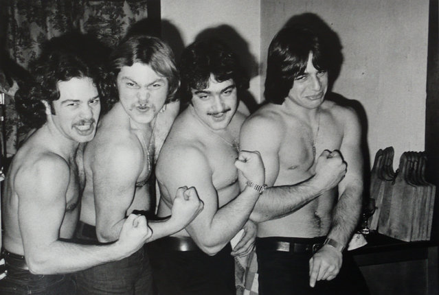 """""""Tony and the Bar Boys"""", 1975. """"When (the students) were sad or upset or not quite right with the world, I shared a feeling with them about that. And when they were excited and thrilled I was tuned into that, too. If I ever started to experience burnout, which is common for teachers, I would photograph the students more to stay connected with them. It kept me young. And that was a wonderful thing because by the time I retired the students couldn't believe that I was going. They just wanted me to continue"""". (Photo by Joseph Szabo/Courtesy of Michael Hoppen Gallery/The Guardian)"""