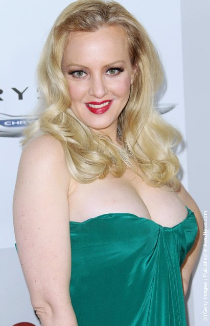 Actress Wendi McLendon-Covey arrives at NBC Universal's 69th Annual Golden Globe Awards After Party