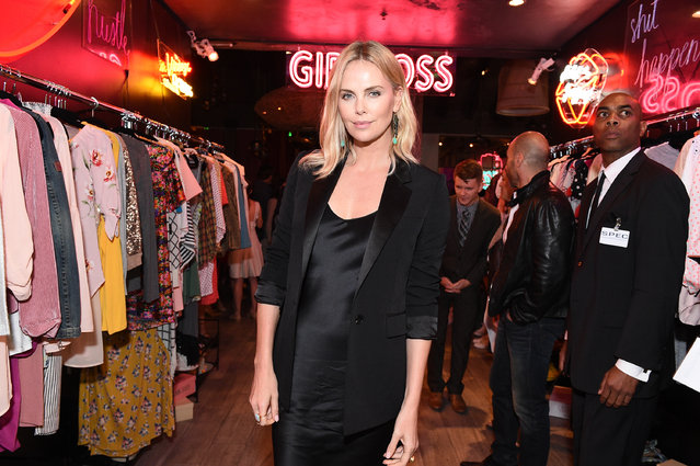 """Executive producer Charlize Theron attends the after party for the premiere of Netflix's """"Girlboss"""" at Le Jardin on April 17, 2017 in Hollywood, California. (Photo by Kevork Djansezian/Getty Images)"""