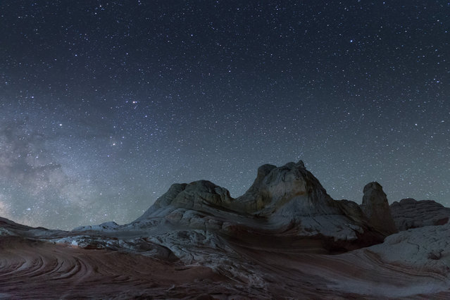 The Milky Way seen at White Pocket in Arizona. (Photo by David Clapp/Barcroft Images)