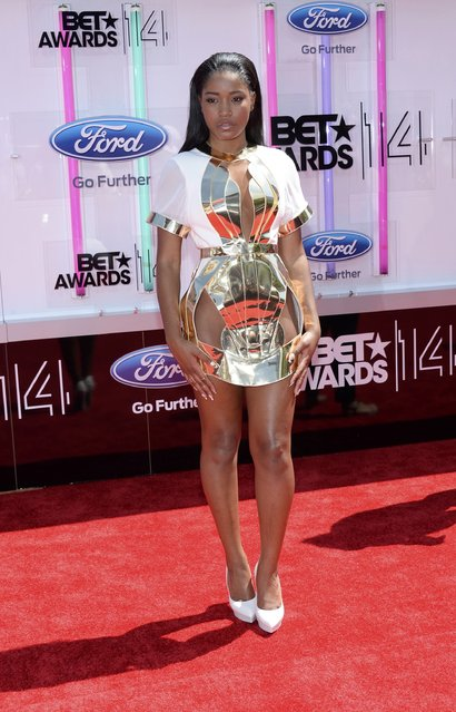 Actress and singer Keke Palmer arrives at the 2014 BET Awards in Los Angeles, California June 29, 2014. (Photo by Kevork Djansezian/Reuters)
