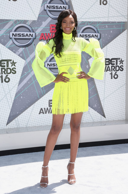 Model Millen Magese attends the 2016 BET Awards at the Microsoft Theater on June 26, 2016 in Los Angeles, California. (Photo by Frederick M. Brown/Getty Images)