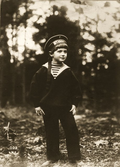 Alexis Tsarevich Romanov (1909–1918), the only son of Tsar Nicholas II of Russia, circa 1915. He suffered from the hereditary royal disease of haemophilia, and was murdered by Bolsheviks at Yekaterinburg, along with the rest of his family. (Photo by Henry Guttmann)