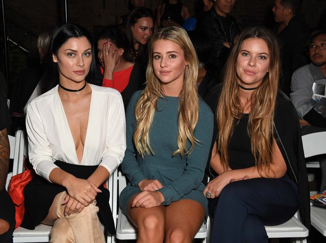 Millie Wilkinson, Cally Jane Beech and Tina Stinnes attend the April Banbury catwalk show at Devonshire Square on September 18, 2016 in London, England. (Photo by Andy Oliver/GoffPhotos.com)