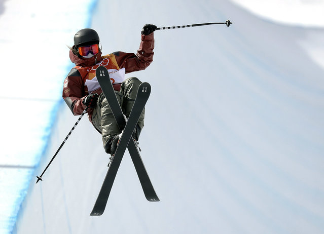 Cassie Sharpe, of Canada, jumps during the women's halfpipe qualifying at Phoenix Snow Park at the 2018 Winter Olympics in Pyeongchang, South Korea, Monday, February 19, 2018. (Photo by Kin Cheung/AP Photo)