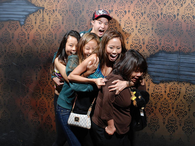 Visitors To Nightmare Fears Factory Pictured Mid-Scream