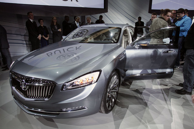 The new General Motors Buick Avenir Concept vehicle is shown after it was revealed to the media on the eve of the 2015 North American International Auto Show January 11, 2015 in Detroit, Michigan. (Photo by Bill Pugliano/Getty Images)