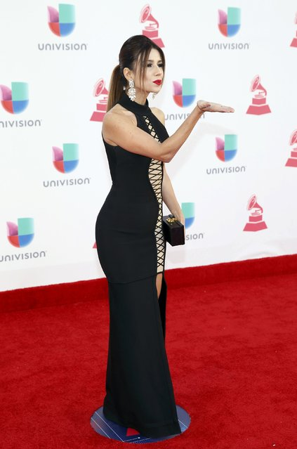 Singer Paula Fernandes arrives at the 17th Annual Latin Grammy Awards in Las Vegas, Nevada, U.S., November 17, 2016. (Photo by Steve Marcus/Reuters)