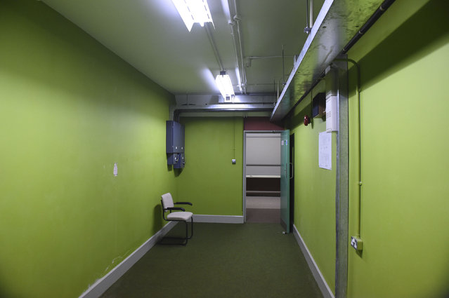 Corridor is seen in a former Regional Government HQ Nuclear bunker built by the British government during the Cold War which  has come up for sale in Ballymena, Northern Ireland on February 4, 2016. (Photo by Clodagh Kilcoyne/Reuters)