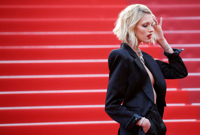 "Anja Rubik poses as she arrives for the screening of the film ""Dolor Y Gloria (Pain and Glory)"" at the 72nd edition of the Cannes Film Festival in Cannes, southern France, on May 17, 2019. (Photo by Stephane Mahe/Reuters)"