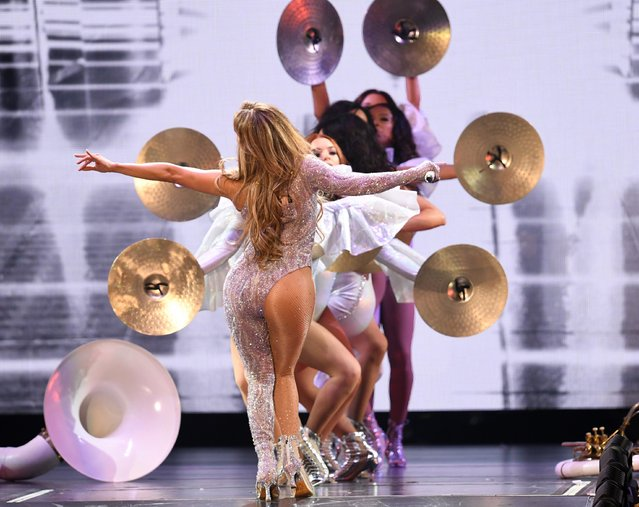 Jennifer Lopez performs onstage during the It's My Party Tour at The Forum on June 07, 2019 in Inglewood, California. (Photo by Kevin Winter/Getty Images for ABA)