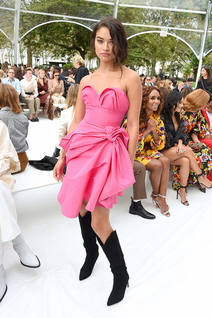Model Shanina Shaik attends the front row of Carolina Herrera fashion show during New York Fashion Weekon September 09, 2019 in New York City. (Photo by Jamie McCarthy/Getty Images)