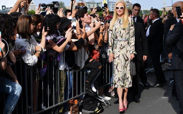 Nicole Kidman is seen arriving for the Prada fashion show during the Milan Fashion Week Spring/Summer 2020 on September 18, 2019 in Milan, Italy. (Photo by Jacopo Raule/GC Images)