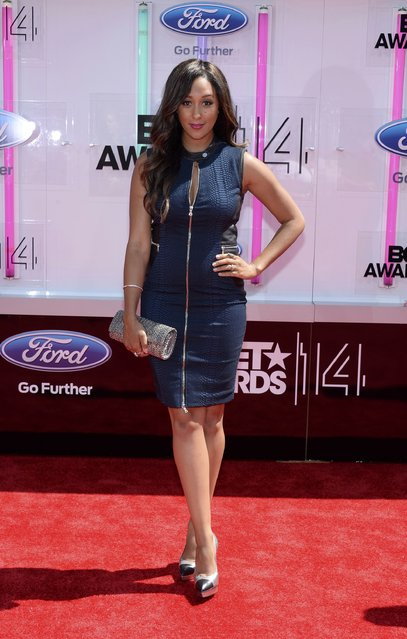 Actress Tamera Moswry-Housley arrives at the 2014 BET Awards in Los Angeles, California June 29, 2014. (Photo by Kevork Djansezian/Reuters)