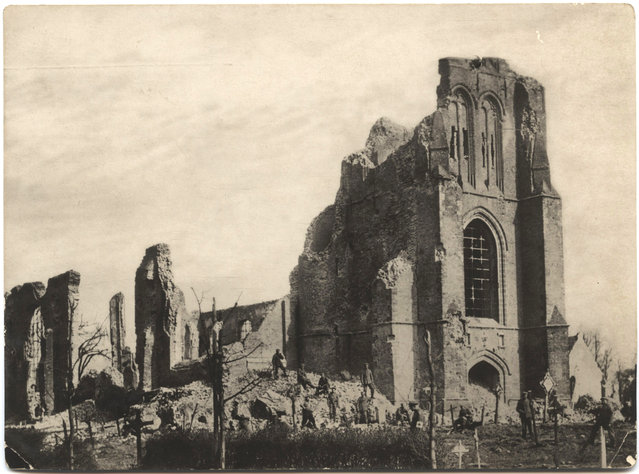 The ruins of an unidentified church. (Photo by Dr. P.A. Smithe/National World War I Museum, Kansas City, Mo.)