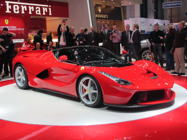 LaFerrari, the new limited-edition special series car from the Prancing Horse, has been unveiled at the Geneva International Motor Show 2013. The HY-KERS system and a carbon-fibre chassis, 6.3 liter V12 combining 789 horsepower with a 160-hp engine, low-end torque propels the sports car to 62 mph (100 km/h) in under three seconds, as you reach 124 mph in impressive manner after seven seconds, with a top speed of 205 mph. These are just few of the innovations sported by the new arrival. (Photo by Luis Fernando Ramos/G1)