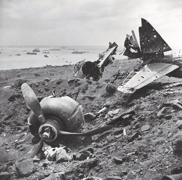 An exemplar of a bitter, grueling land battle, Iwo Jima also saw prodigious air and sea power brought to bear as American and Japanese troops clashed over control of the tiny Pacific island. American forces finally captured Iwo Jima – and its two strategic airfields – in late March, 1945. (Photo by W. Eugene Smith/Time & Life Pictures)