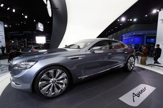 The Buick Avenir concept is on display during media previews for the North American International Auto Show in Detroit Monday, January 12, 2015. (Photo by Paul Sancya/AP Photo)