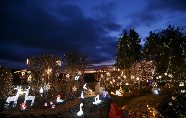 A general view shows Christmas decoration at a country house estate in the village of Bad Tatzmannsdorf, Austria, November 30, 2015. (Photo by Leonhard Foeger/Reuters)