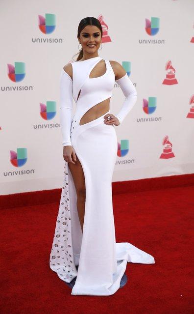 Model Clarissa Molina arrives at the 17th Annual Latin Grammy Awards in Las Vegas, Nevada, U.S., November 17, 2016. (Photo by Steve Marcus/Reuters)