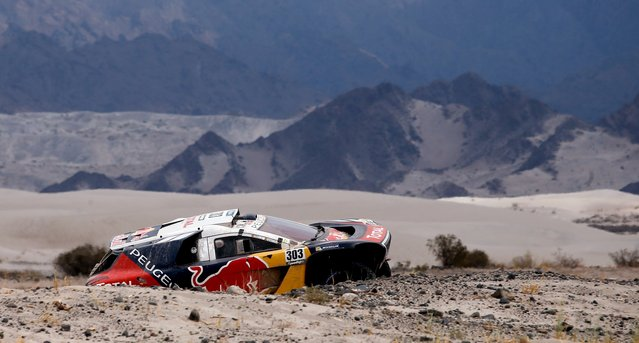 Carlos Sainz of Spain drives his Peugeot during the 10th stage of the Dakar Rally 2016 near Fiambala, Argentina, January 13, 2016. (Photo by Marcos Brindicci/Reuters)